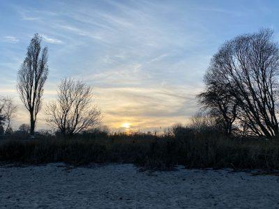Winternachmittag am Strand von Norgaardholz